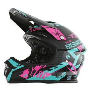 Casque cross XP4 TROOPER MINT NEON ROSE  2017 Vert/Rose