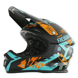 Casque Cross Shot Destockage Xp4 Trooper Mint Orange Enfant 2017