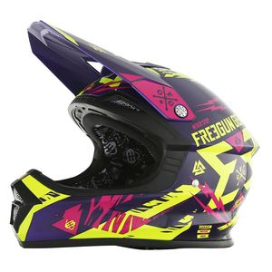 Casque cross XP4 TROOPER NEON JAUNE MAGENTA  2017 Jaune/Violet