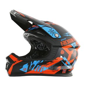Casque cross XP4 TROOPER NEON ORANGE CYAN  2017 Orange/Bleu