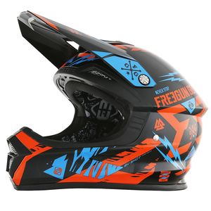 Casque cross XP4 TROOPER NEON ORANGE CYAN ENFANT   Orange/Bleu