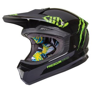 Casque cross XP4 FREAK  GREEN NEON 2015 Noir/Vert
