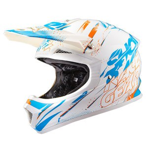 Casque cross FURIOUS CAPTURE BLEU ORANGE BRILLANT  2016 Bleu/Orange
