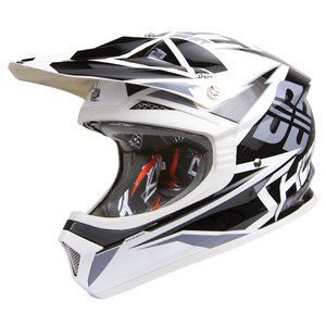 Casque cross FURIOUS FUSION  BLACK GREY  Noir/Gris