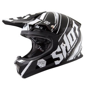 Casque cross FURIOUS GENESIS NOIR BLANC BRILLANT   Noir/Blanc