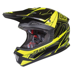Casque cross FURIOUS STELLAR KID  YELLOW NEON  Jaune Fluo