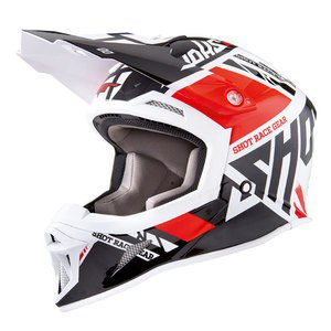 Casque Cross Shot Destockage Striker Raceway Rouge Brillant