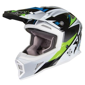 Casque Cross Shot Striker Maroon - Green Blue 2019