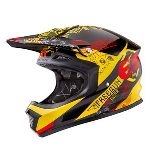Casque cross XP4 BANDANA JAUNE ROUGE  2016 Jaune/Rouge