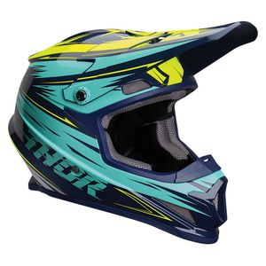 Casque cross SECTOR - WARP - NAVY TEAL 2020 Bleu/Jaune