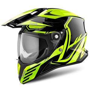 Casque COMMANDER - CARBON - GLOSS  Jaune