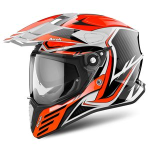Casque COMMANDER - CARBON - GLOSS  Orange
