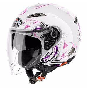 Casque Airoh City One - Heart - White Gloss