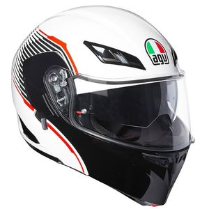 Casque COMPACT ST - VERMONT  White/Black/Red