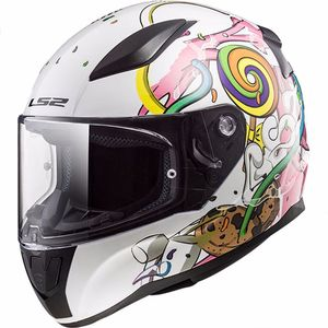 Casque Ls2 Ff353j - Rapid Mini Crazy Pop Enfant