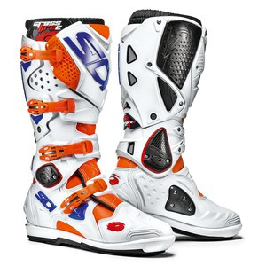 Bottes cross CROSSFIRE 2 SRS - BLANC/ORANGE/BLEU 2017 Blanc/Orange/Bleu