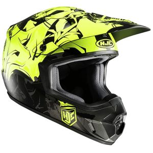 Casque cross CS MX II - GRAFFED 2018 Noir/Jaune