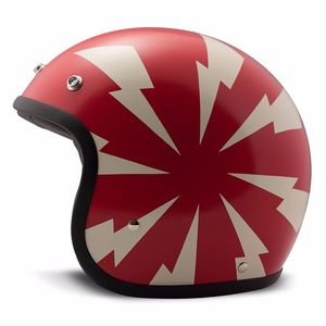 Casque VINTAGE BANG MATT  Rouge/Blanc