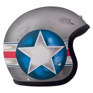 Casque VINTAGE FIGHTER MATT  Gris