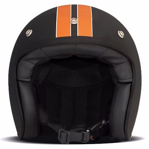 Casque VINTAGE HD MATT  Noir/Orange