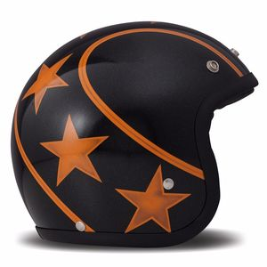 Casque VINTAGE STUNT  Noir/Orange