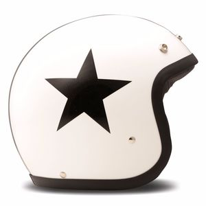 Casque VINTAGE STAR  Blanc