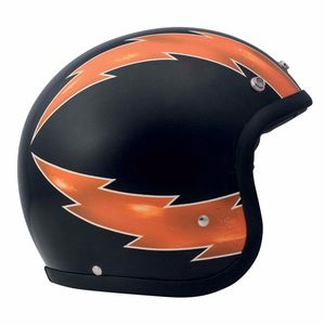 Casque VINTAGE THUNDER MATT  Noir/Orange