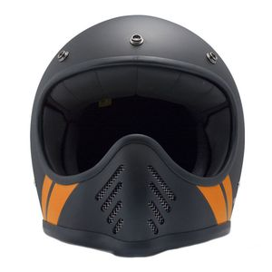 Casque SEVENTY FIVE - STRIPE  Noir Orange