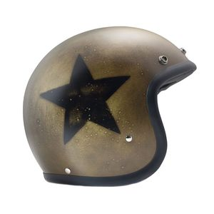Casque Dmd Vintage Handmade Smile Dark Gold