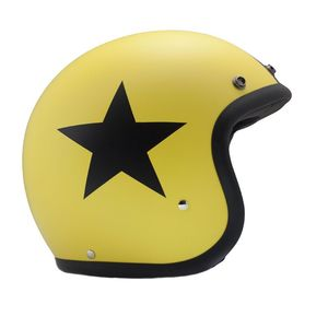 Casque VINTAGE STAR YELLOW  Jaune