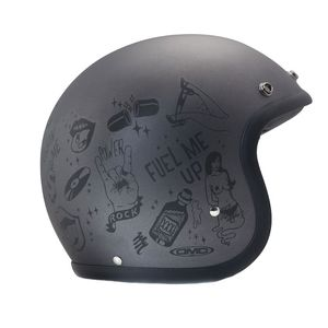 Casque VINTAGE YOU ROCK MATT  Gris