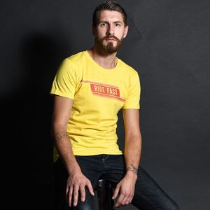 T-Shirt manches courtes RIDE FAST  Jaune