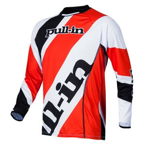 Maillot cross STRIPES ML  - ORANGE/BLACK 2015 Orange/Noir