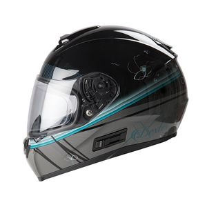 Casque OPTIMUS CHERRY-BLOSSOM  Black/Turquoise