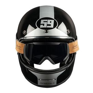 Casque MARTY FIFTY NINER SILVER AND BINOCLE PACK  Black/Silver
