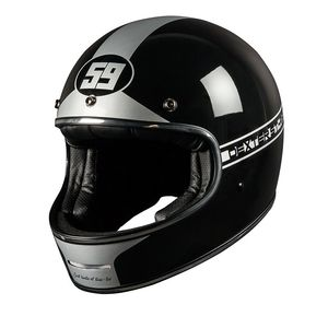 Casque MARTY FIFTY NINER SILVER  Black/Silver