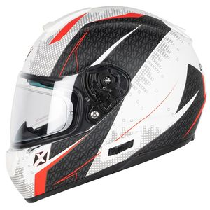 Casque OPTIMUS RADIUS  White mat / Red