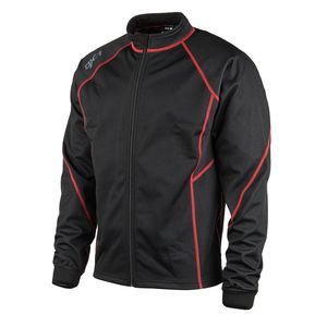 Maillot Technique WINTERCORE ZIP - BLACK RED  Black/Red