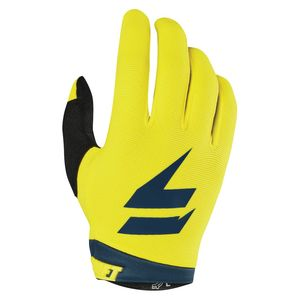 Gants cross WHITE AIR - YELLOW NAVY 2019 Jaune Bleu
