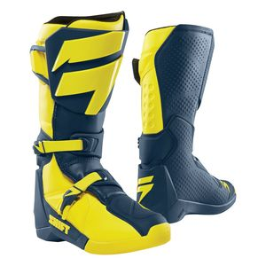Bottes cross WHITE - YELLOW NAVY 2019 Yellow Navy