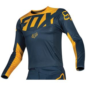 Maillot Cross Fox 360 - Kila - Navy Yellow 2019