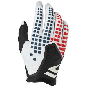Gants cross 3LACK PRO - WHITE BLACK 2019 Blanc