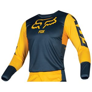 Maillot Cross Fox 180 - Przm - Navy Yellow 2019