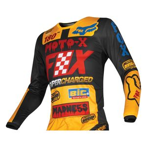 Maillot cross KIDS 180 - CZAR - BLACK YELLOW  Noir/Jaune