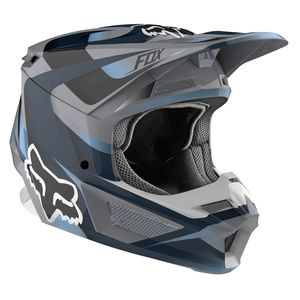 Casque Cross Fox V1 - Motif - Blue Grey 2019
