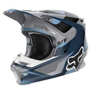 Casque Cross Fox V1 Youth - Motif - Blue Grey 2019