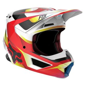 Casque Cross Fox V1 - Motif - Red White 2019