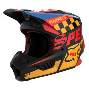 Casque Cross Fox V1 Youth - Czar - Black Yellow 2019