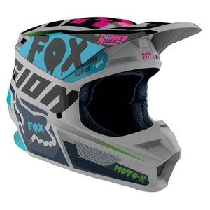 Casque Cross Fox V1 - Czar - Light Grey 2019