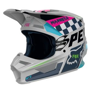 Casque Cross Fox V1 Youth - Czar - Light Grey 2019